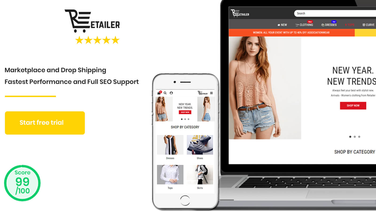 Retailer Multipurpose Fastest Converting Shopify Themes